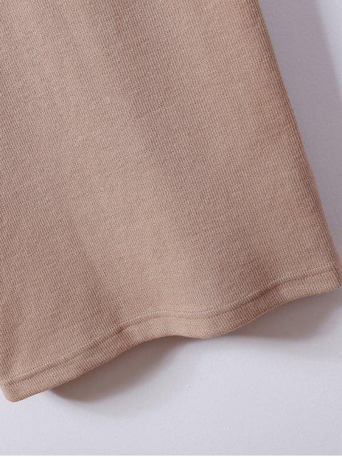 Robe surplis camisole ajustée à col plongeant - Brun S Mobile