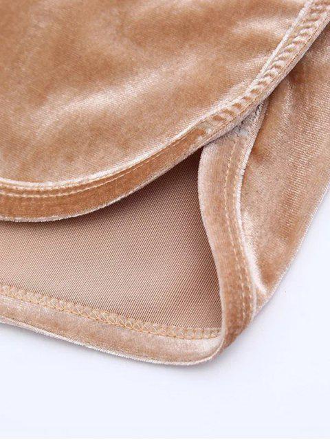 shops Sporty Velvet Shorts - GRAY S Mobile