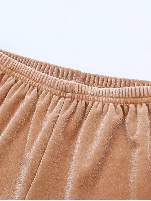 latest Sporty Velvet Shorts - BLACK M Mobile