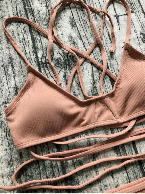 buy V String Bralette Bikini Set - LATERITE L Mobile