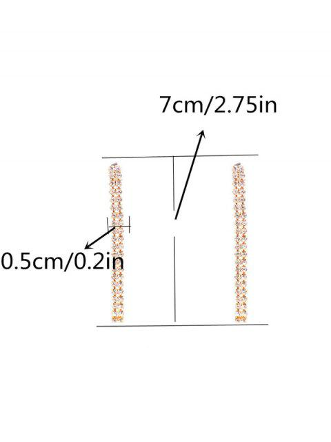 outfits Zircon Strip Drop Earrings - GOLDEN  Mobile