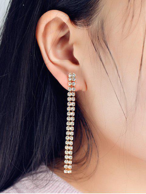 Boucles d'oreilles en bandes de strass - Or  Mobile