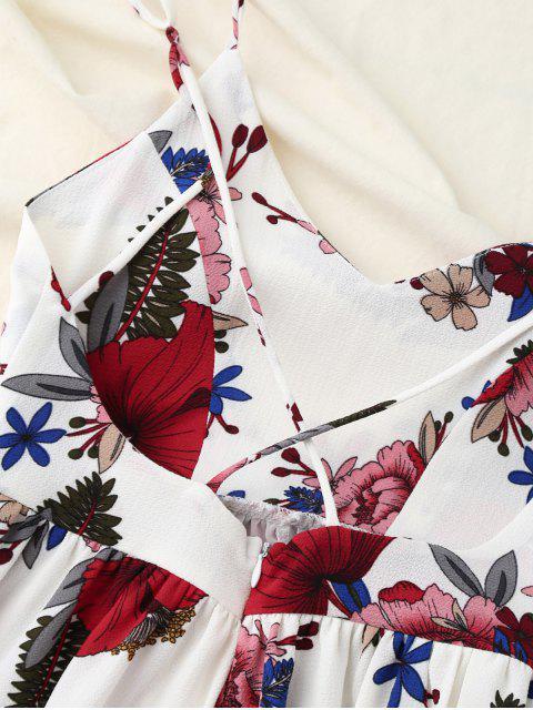 sale Crosscriss Floral Romper - WHITE S Mobile