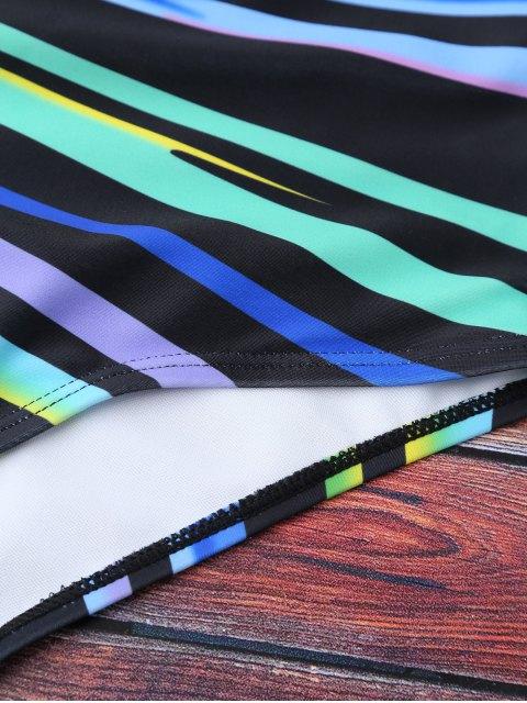 Maillots de bain à col en U en couleurs de blocage - Multicolore L Mobile