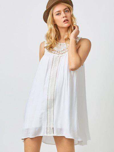 Mini Trapeze Summer Dress - White Xl