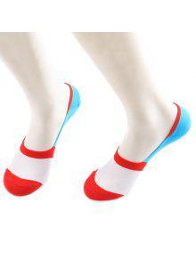 اللون كتلة عدم الانزلاق الجوارب لينر سبيري الجوارب - احمر و ابيض