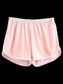 Pantalones Cortos De Terciopelo Deportivo - Rosado Claro S