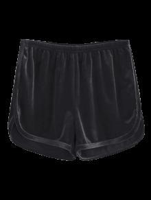 Sporty Velvet Shorts - Black S
