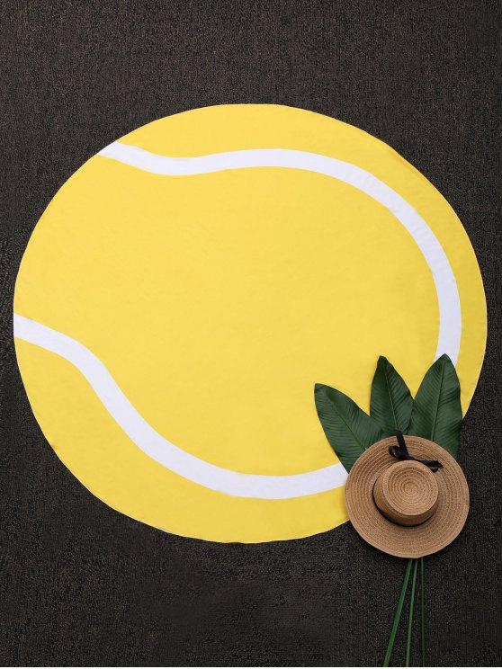 chic Round Color Block Beach Throw - YELLOW ONE SIZE