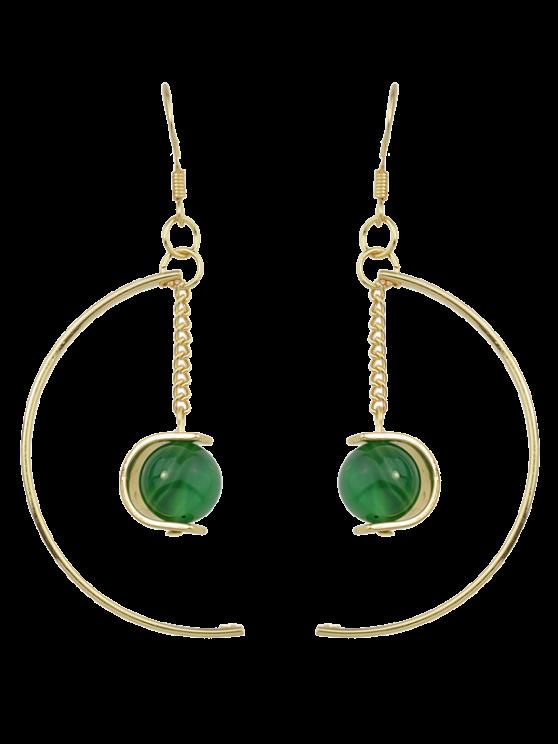 Boucles d'oreilles de perles articielles - Vert