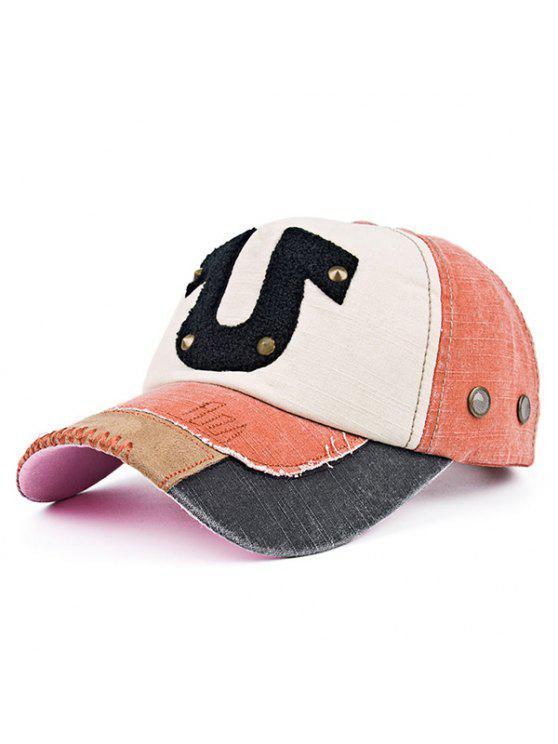 Patchwork Towelling Character Rivet chapéu de basebol - Jacinto