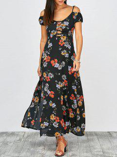 Vestido De Verano Maxi De Corte Recto Con Estampado Floral - Multi M