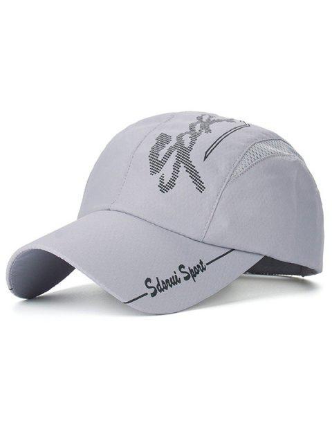 Beschriften das gedruckte Netz Spliced Baseball-Mütze - Grau  Mobile