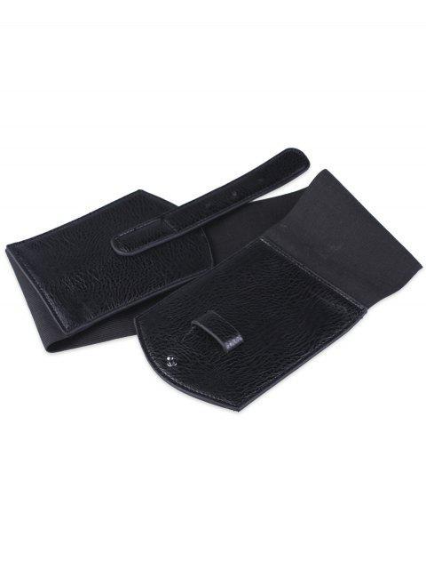 sale Cover Buckle PU Panel Corset Belt - BLACK  Mobile