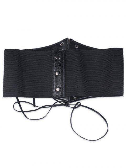 affordable Criss Cross Lace Up Corset Belt - BLACK  Mobile