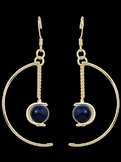 Boucles d'oreilles de perles articielles - Bleu  Mobile