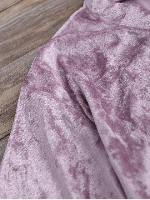 T-shirt en velours écrasé à faux col - Pourpre Rosé XL Mobile