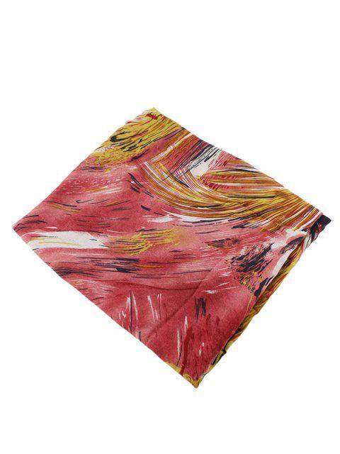 hot Boho Abstract Line Print Wrap Scarf -   Mobile