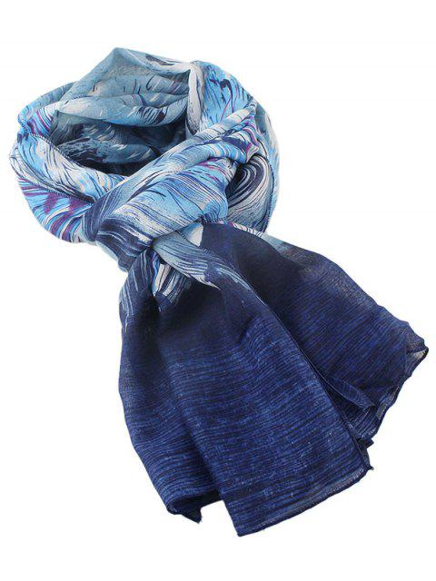 online Boho Abstract Line Print Wrap Scarf -   Mobile