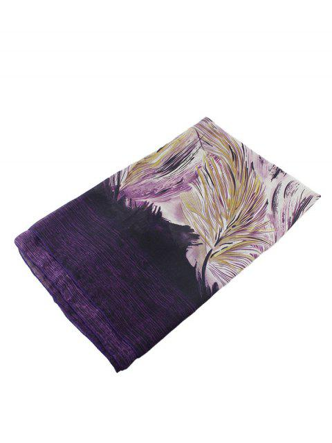 outfit Boho Abstract Line Print Wrap Scarf -   Mobile