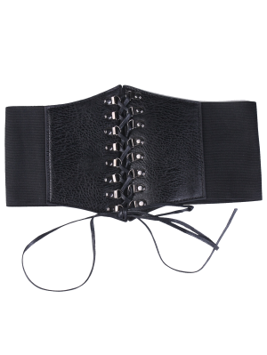 Criss Cross Lace Up Corset Belt