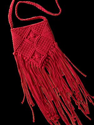 Fringe Crochet Bag Umhängetasche