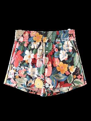 Bouton Agrémentée Shorts Floral Tropical - Floral L