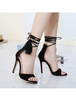 Mini Heel Tassels Sandals