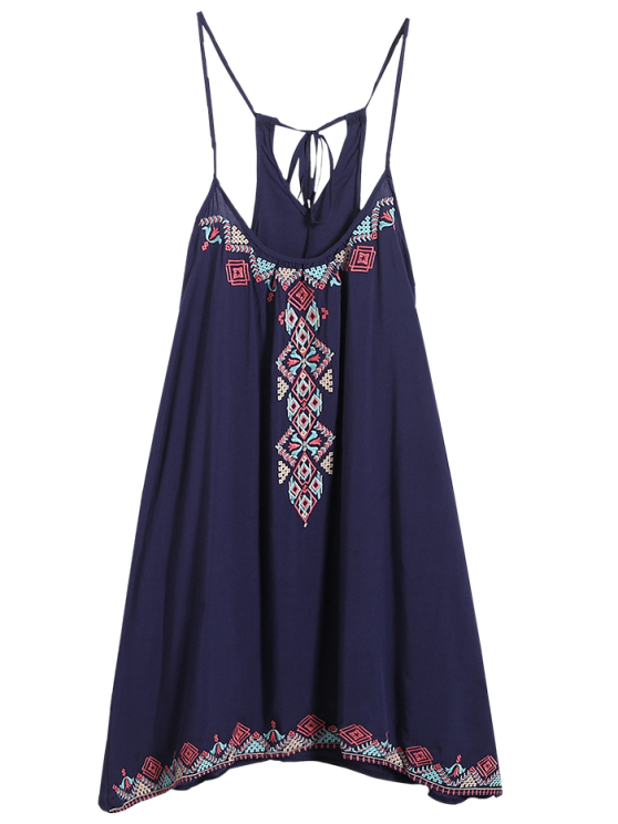 shop Spaghetti Strap Dress - PURPLISH BLUE ONE SIZE