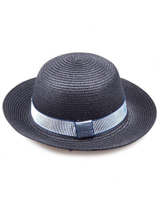 شريط مقلم مزخرف التشفيه الرول قبعة سترو - أسود