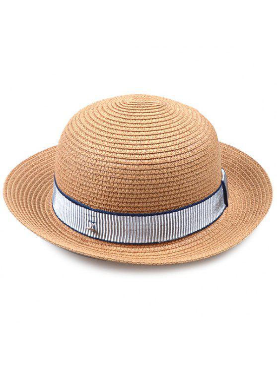 شريط مقلم مزخرف التشفيه الرول قبعة سترو - قهوة