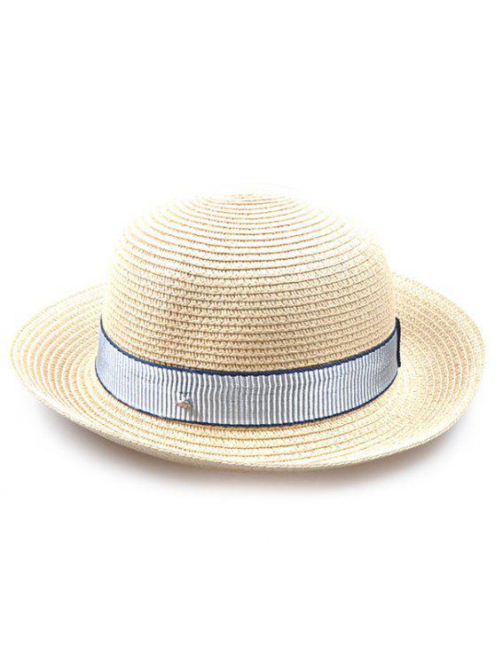 شريط مقلم مزخرف التشفيه الرول قبعة سترو - أبيض فاتح