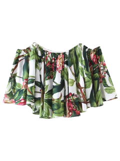 Blusa De Hombro Off Tropical - Floral M