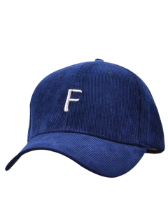 Casquette De Baseball En Velours Côtelé Avec étiquette F - Minuit