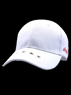 Traverse Star Rivet Letters Baseball Cap - White