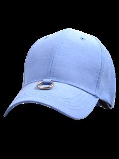 Metal Ring Embellished Baseball Cap - Blue