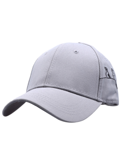 Little Cat Posture Embroidery Baseball Hat - Gray