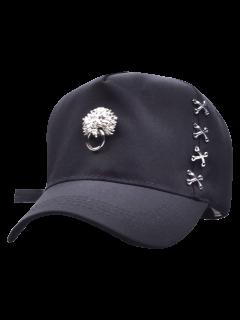 Casquette De Baseball Agrémentée De Tête De Dragon à Heurtoir - Noir