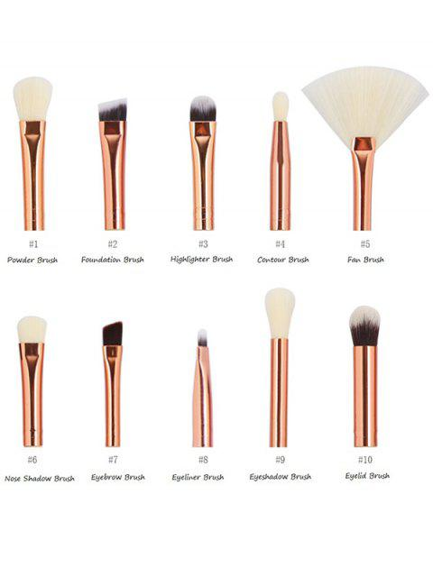 women's 10 Pcs Eye Makeup Brushes Set - COMPLEXION  Mobile