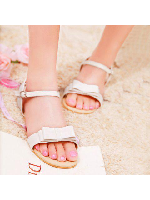 trendy Bow Flat Heel Sandals -   Mobile