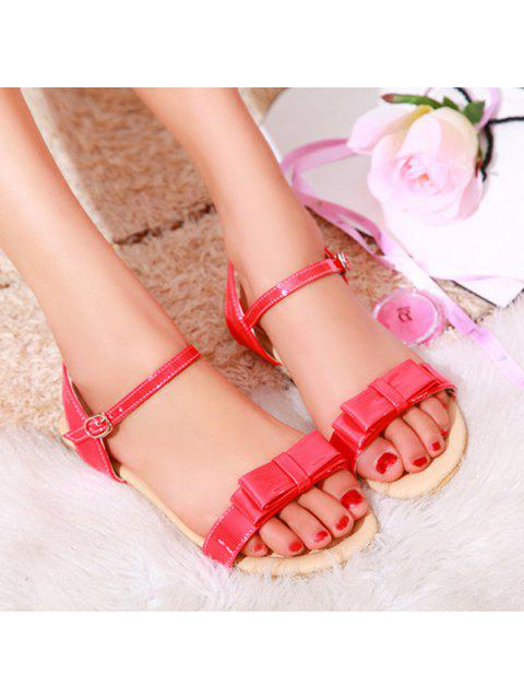 fashion Bow Flat Heel Sandals -   Mobile