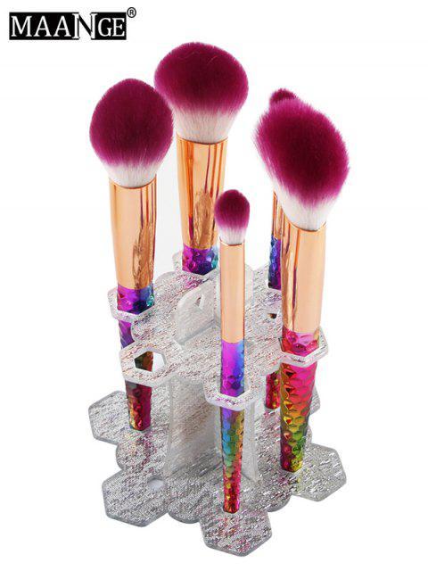 hot MAANGE Beauty Brush Stand Brush Holder - SILVER  Mobile