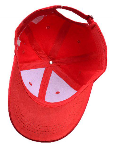 outfits Little Cat Posture Embroidery Baseball Hat - RED  Mobile