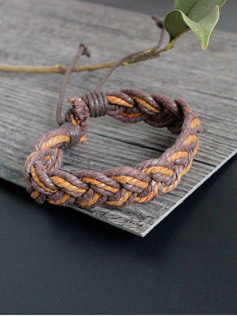 women's Bamboo Woven Faux Leather Bracelet Set - MULTICOLOR  Mobile