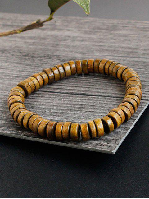 sale Faux Leather Woven Friendship Bracelets - BROWN  Mobile