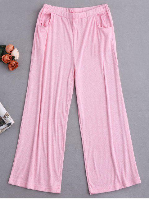new Graphic Top and Wide Leg Pants Sleepwear - BABY PINK S Mobile