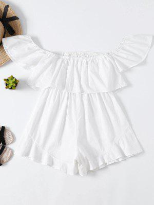 Frilly Off The Shoulder Beach Romper
