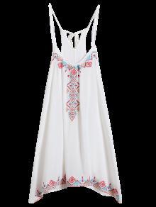 فستان حزام السباغيتي - أبيض