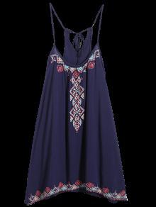 Vestido De Tirantes Finos - Azul Purpúreo