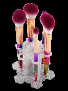 MAANGE Beauty Brush Stand Brush Holder - Silver